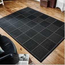 Checked Flatweave - Black