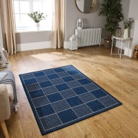 Checked Flatweave - Blue