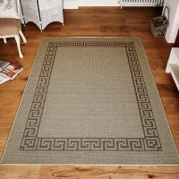 Greek key Flatweave - Beige