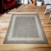 Greek key Flatweave - Grey