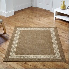 Greek key Flatweave - Brown