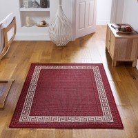 Greek key Flatweave - Red