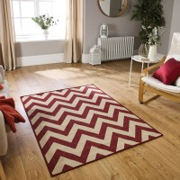 Moda Flatweave - Chevron Red