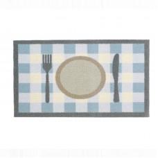 Food mat - Tea time Check blue