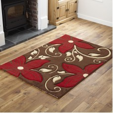 Floral - PA15 Brown Red
