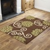 A8R - Floral - Brown / Green Runner Rug