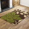 A7R Floral - Brown /  Green - Runner Rug