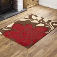 Floral - Brown / Red Runner Rug
