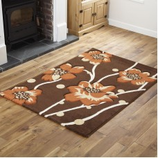 Floral - Brown / Terra Runner Rug