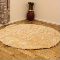 Sheepskin Clearance - Beige Circle & Oblong Rugs
