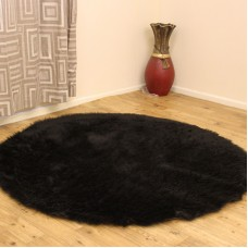 Sheepskin Clearance - Black Circle & Oblong Rugs