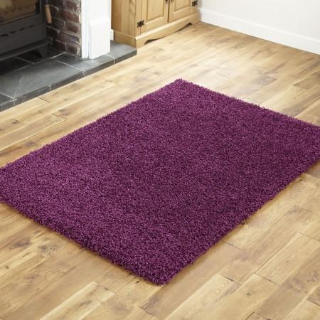 Everest Shaggy - Aubergine Purple - 5cm Thick Pile