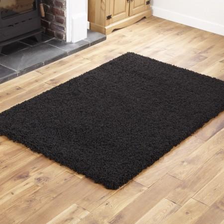 Everest Shaggy - Black - 5cm Thick Pile