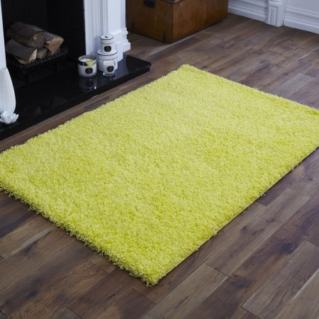 Everest Shaggy - Lemon Yellow- 5cm Thick Pile