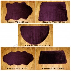 Sheepskin Clearance - Aubergine