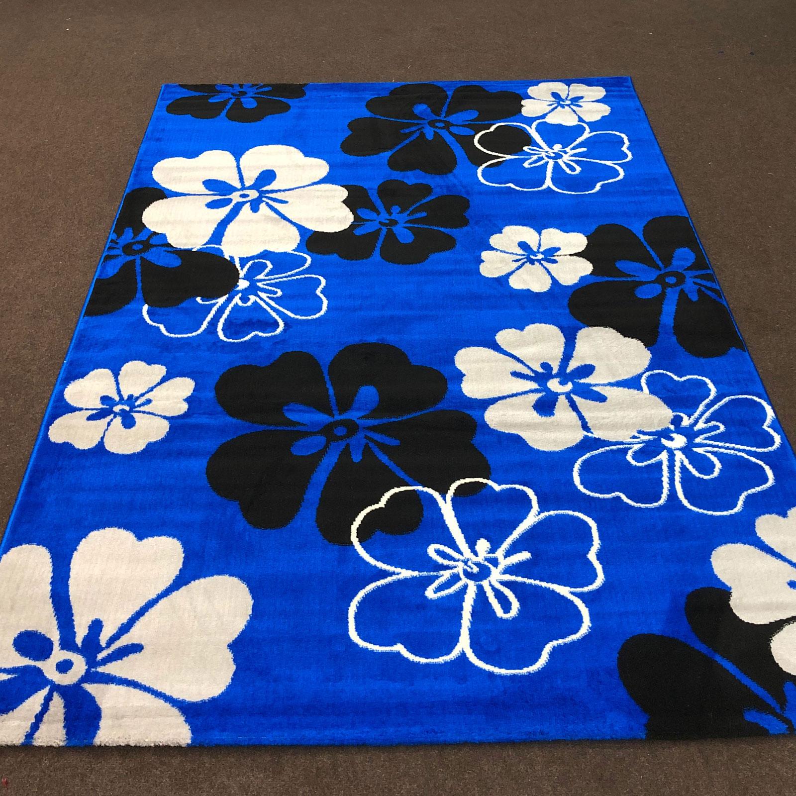Alpha 104 - Floral - Blue Black