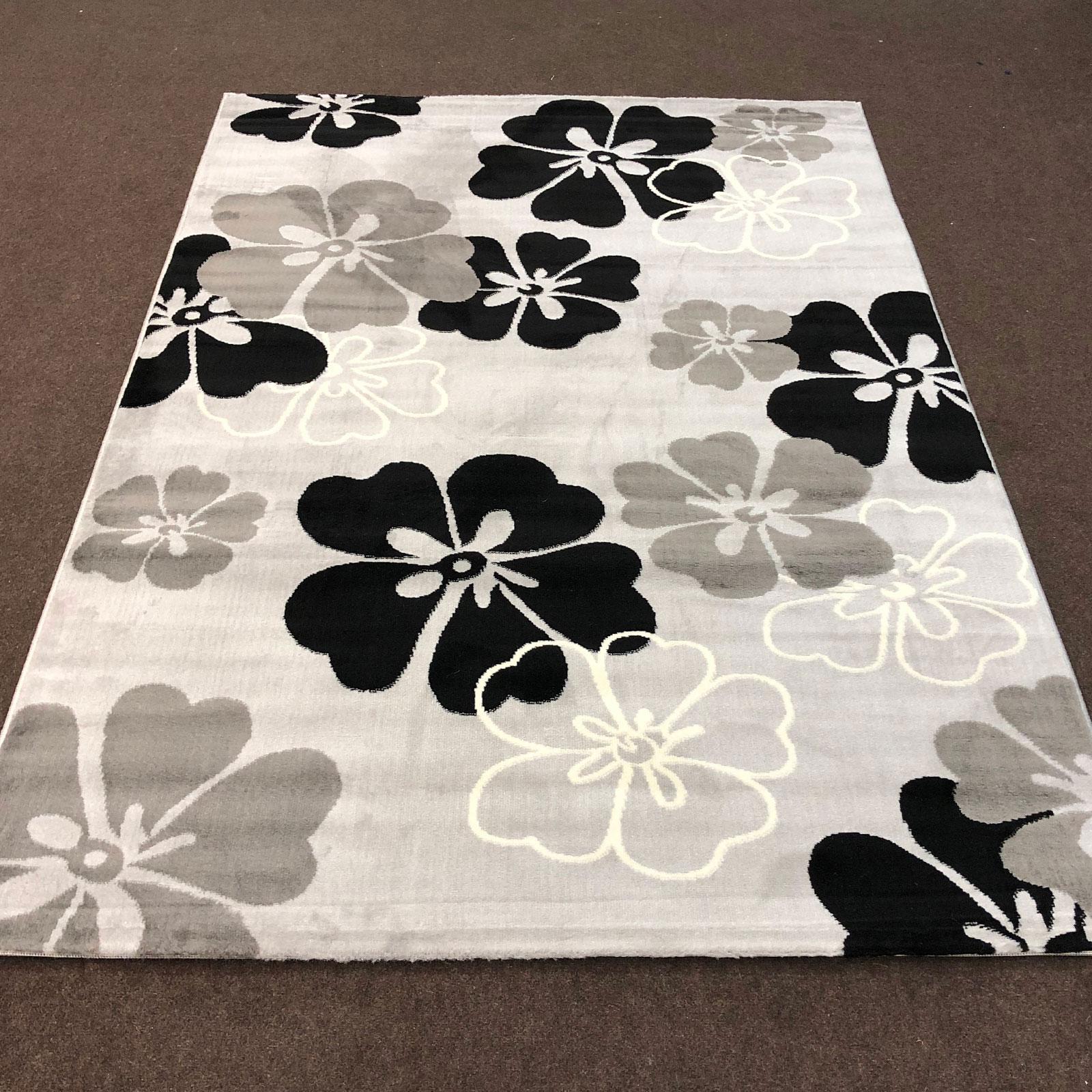 Alpha 106 - Floral - Grey Black