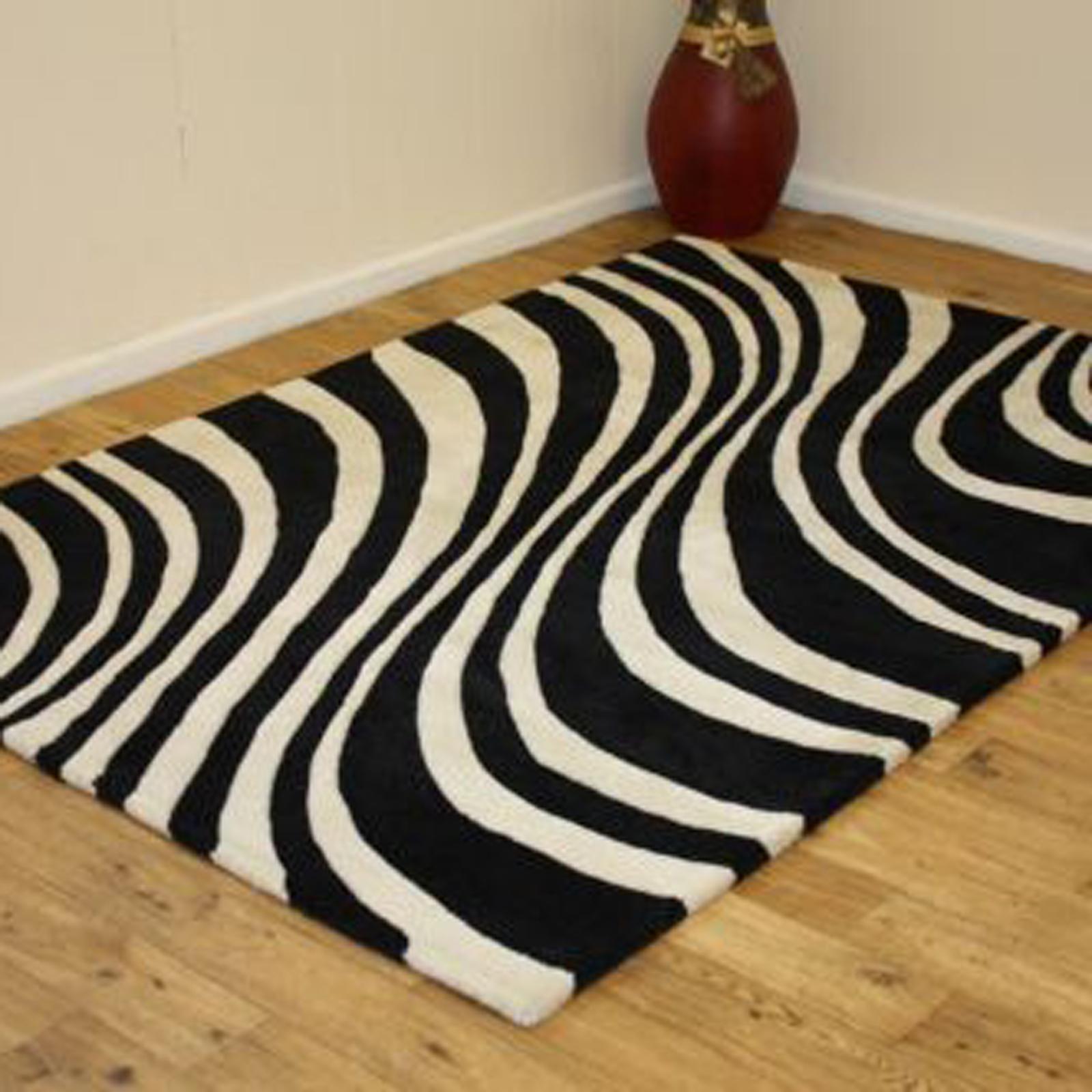 Indian Wool Nova Savanah - Black White