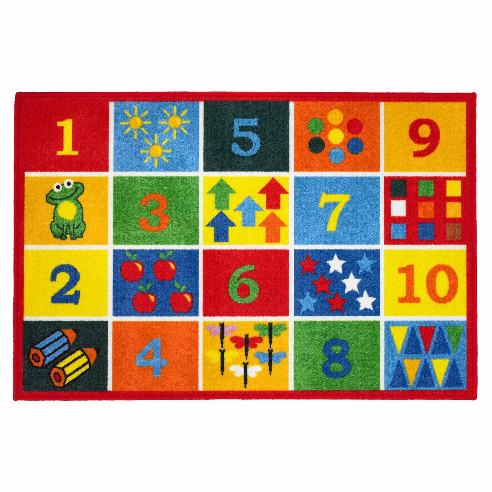 PLAYTIME NUMBERS KIDS RUG - MULTI